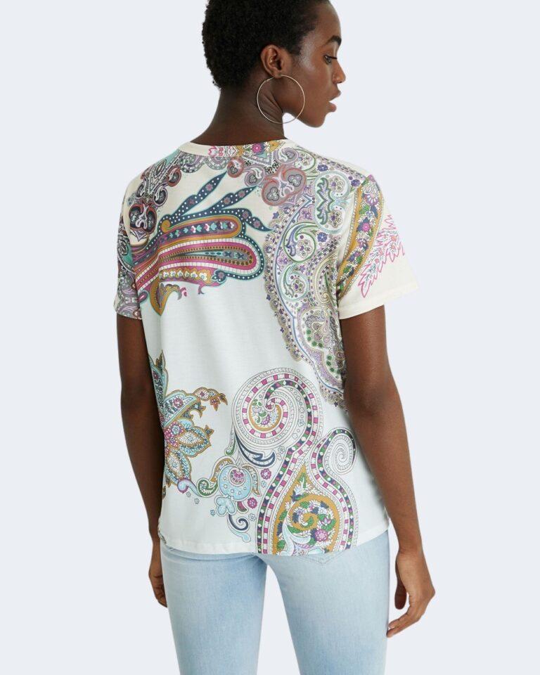 T-shirt Desigual POPASLEY Bianco - Foto 3