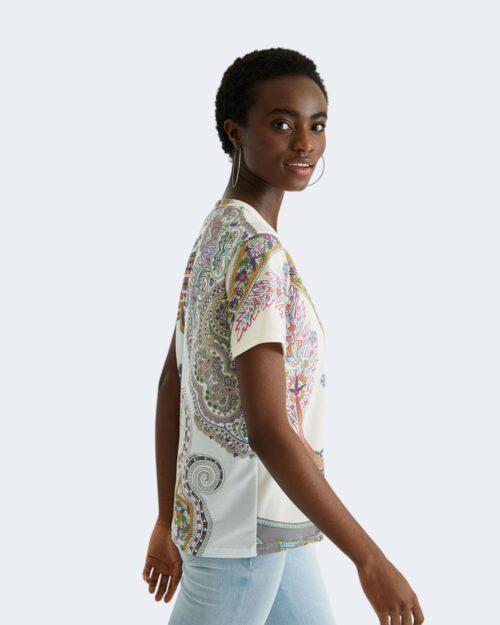 T-shirt Desigual POPASLEY Bianco - Foto 4