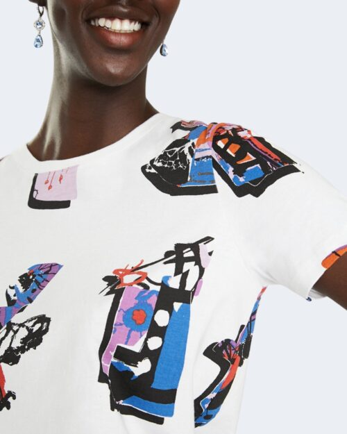 T-shirt Desigual SIENA Bianco - Foto 4