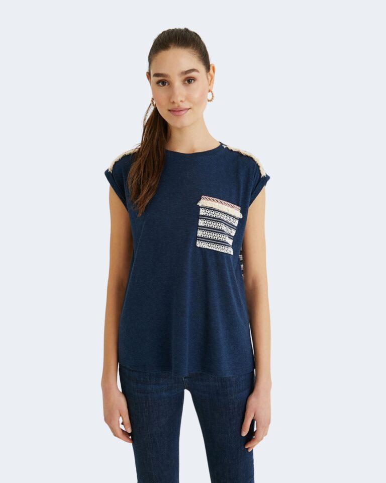 T-shirt Desigual DUBLIN Blu - Foto 1