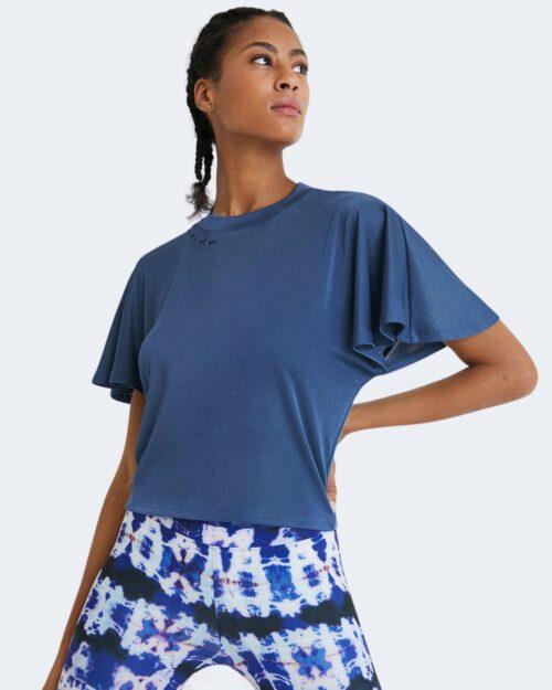 T-shirt Desigual VOLANTES SLEEVES Blu Chiaro – 65518