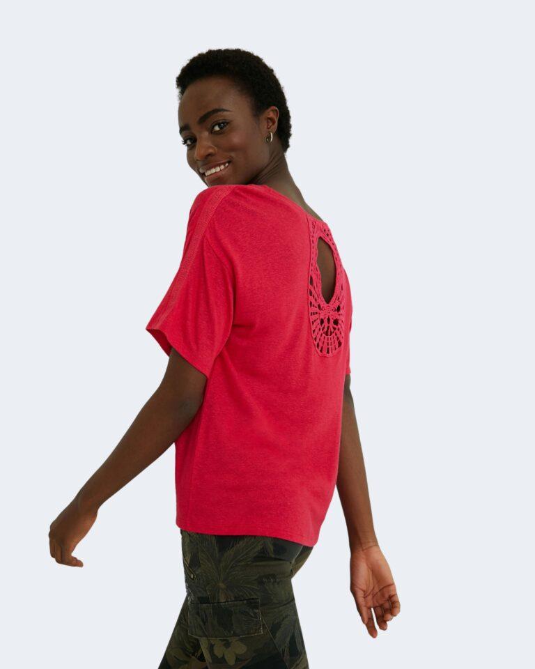 T-shirt Desigual CLEMENTINE Fuxia - Foto 1
