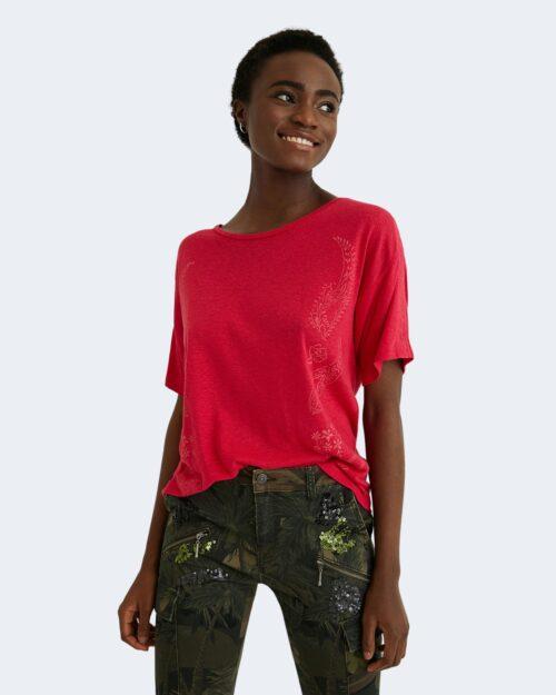 T-shirt Desigual CLEMENTINE Fuxia - Foto 3