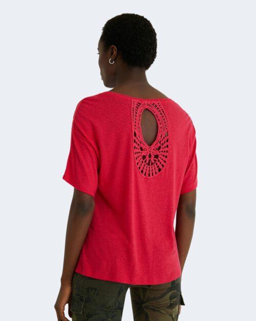 T-shirt Desigual CLEMENTINE Fuxia - Foto 4