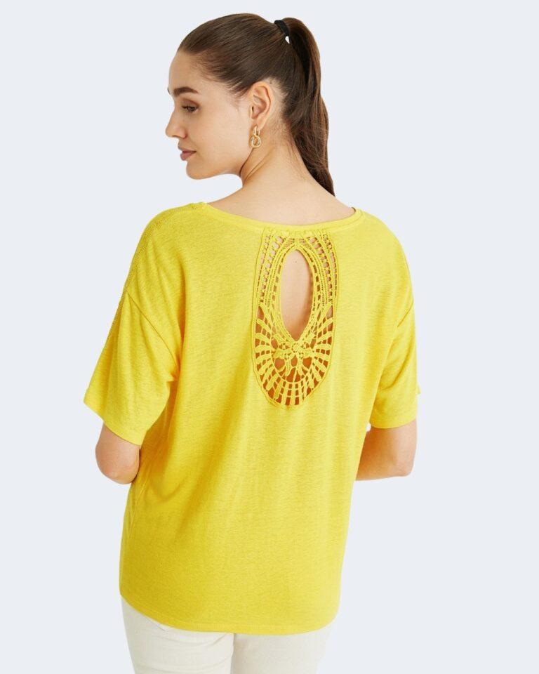 T-shirt Desigual CLEMENTINE Giallo - Foto 1