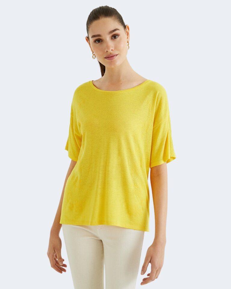 T-shirt Desigual CLEMENTINE Giallo - Foto 2