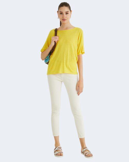 T-shirt Desigual CLEMENTINE Giallo - Foto 3