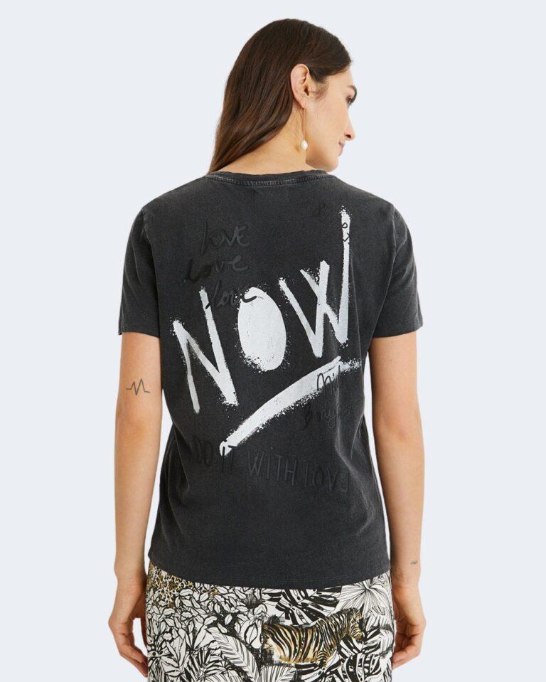 T-shirt Desigual FUTURE Nero - Foto 4