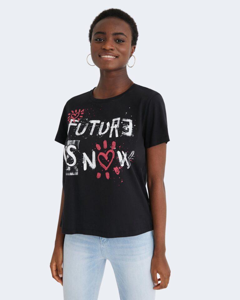 T-shirt Desigual FUTURE IS NOW Nero - Foto 1