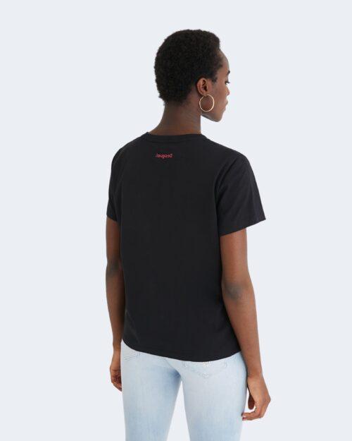 T-shirt Desigual FUTURE IS NOW Nero - Foto 3