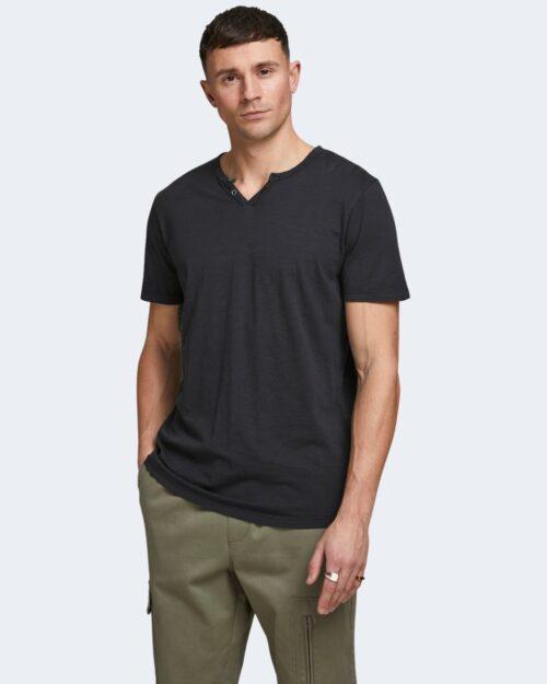 T-shirt Jack Jones ESPLIT NECK TEE SS NOOS Nero – 39645