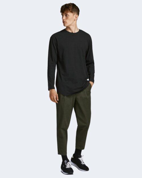 T-shirt Jack Jones JJENOA TEE O-NECK LS NOOS – 12190128 Nero – 71743