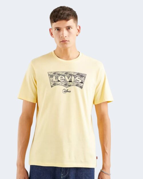 T-shirt Levi's® HOUSEMARK GRAPHIC TEE FISH FILL Crema – 72662