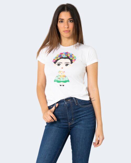 T-shirt Narciso GIRL FLOWER LUCIDA Bianco – 72680