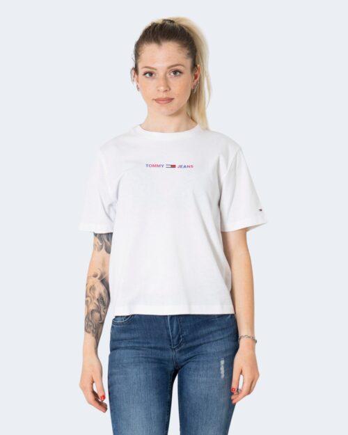 T-shirt Tommy Hilfiger TJW CROP MULTI LINEA DW0DW10437 Bianco – 72179