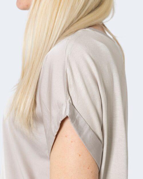 T-shirt Vila Clothes VIELLETTE S/S SATIN TOP/SU – NOOS Beige – 62969