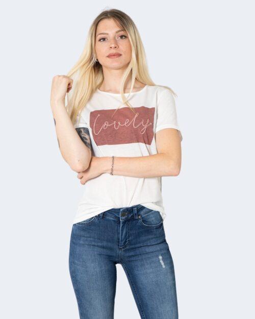T-shirt Vila Clothes VILINNEA LOVELY S/S T-SHIRT/R Bianco – 62956