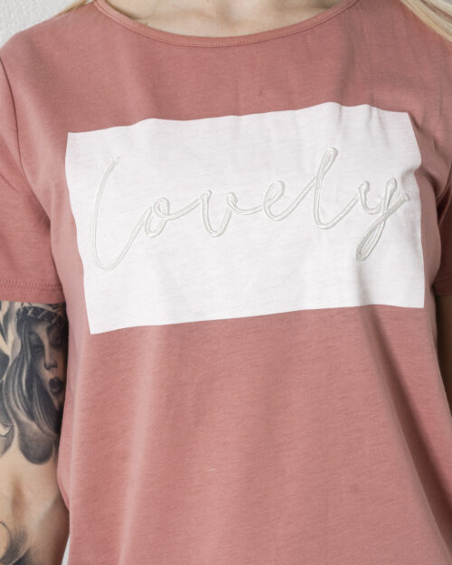 T-shirt Vila Clothes VILINNEA LOVELY S/S T-SHIRT/R Rosa Cipria – 62956