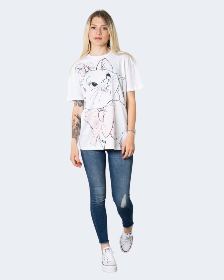 T-shirt Only ONLDISNEY LIFE OVERSIZE S/S TOP BOX JRS - 15235935 Bianco - Foto 2