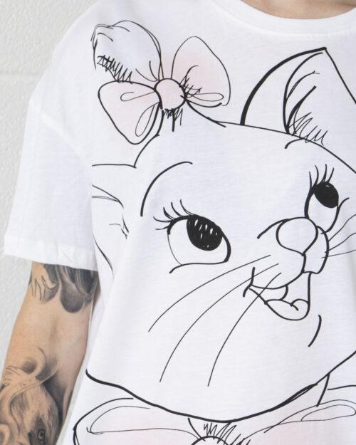 T-shirt Only ONLDISNEY LIFE OVERSIZE S/S TOP BOX JRS - 15235935 Bianco - Foto 3