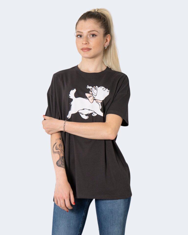 T-shirt Only ONLDISNEY LIFE OVERSIZE S/S TOP BOX JRS - 15235935 Grigio Scuro - Foto 1