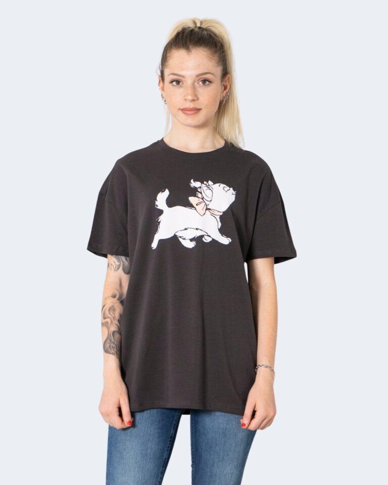 T-shirt Only ONLDISNEY LIFE OVERSIZE S/S TOP BOX JRS - 15235935 Grigio Scuro - Foto 2