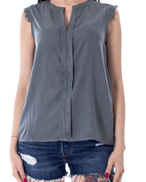 Canotta Only Kimmi S/L Top Wvn Noos Grigio – 29049