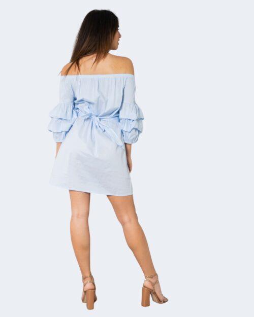 Vestito corto One.0 FIOCCO CON PERLE Celeste – 72564