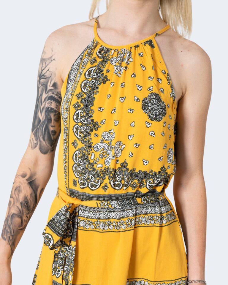 Vestito lungo Only ALMA Giallo - Foto 3