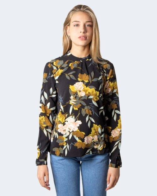 Bluse manica lunga Only New Mallory Aop L/S Blouse Wvn Noos Nero – 36695