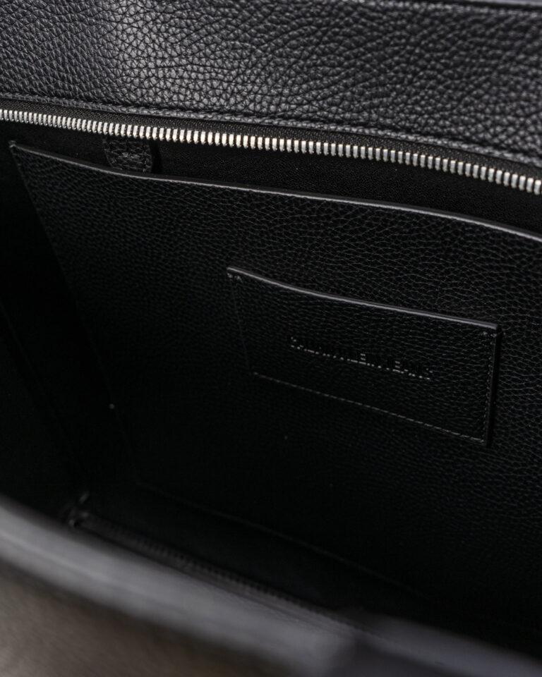 Borsa Calvin Klein Jeans SHOPPER LOGO Nero - Foto 3