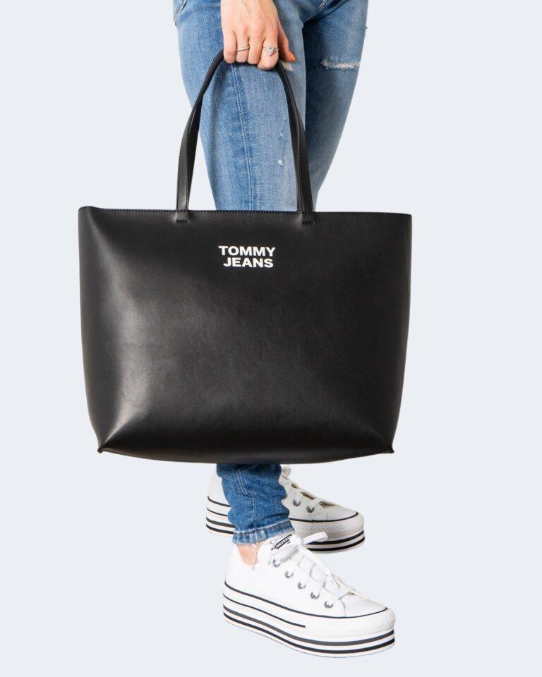 Borsa Tommy Hilfiger Jeans ESSENTIAL PU TOTE Nero - Foto 2