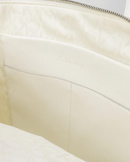 Borsa Calvin Klein SHOPPER Bianco - Foto 3