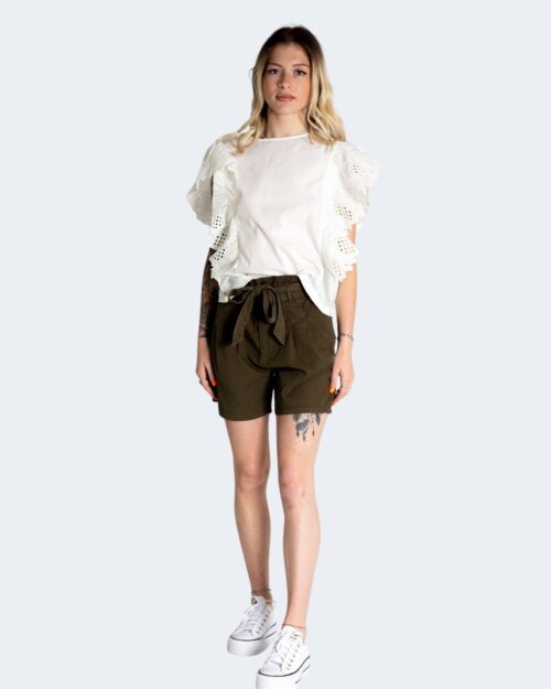 Canotta Only SANNE S/S BRODERIE TOP JRS Panna – 74162