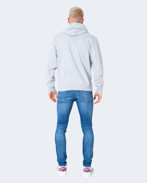 Felpa con cappuccio Tommy Hilfiger Jeans TJM PIECED BAND LOGO DM0DM09651 Grigio Chiaro - Foto 3
