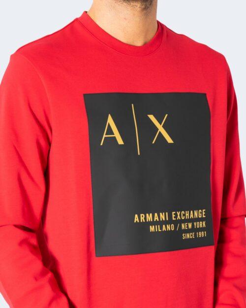 Felpa senza cappuccio Armani Exchange SWEATSHIRT Rosso – 72498