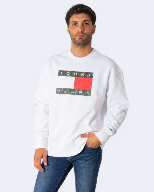 Felpa senza cappuccio Tommy Hilfiger CAMO FLAG Bianco – 72200