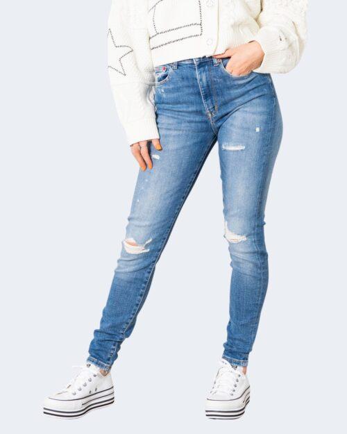 Jeans skinny Tommy Hilfiger SYLVIA HR SPR SKNY A DW0DW10304 Denim chiaro – 72169