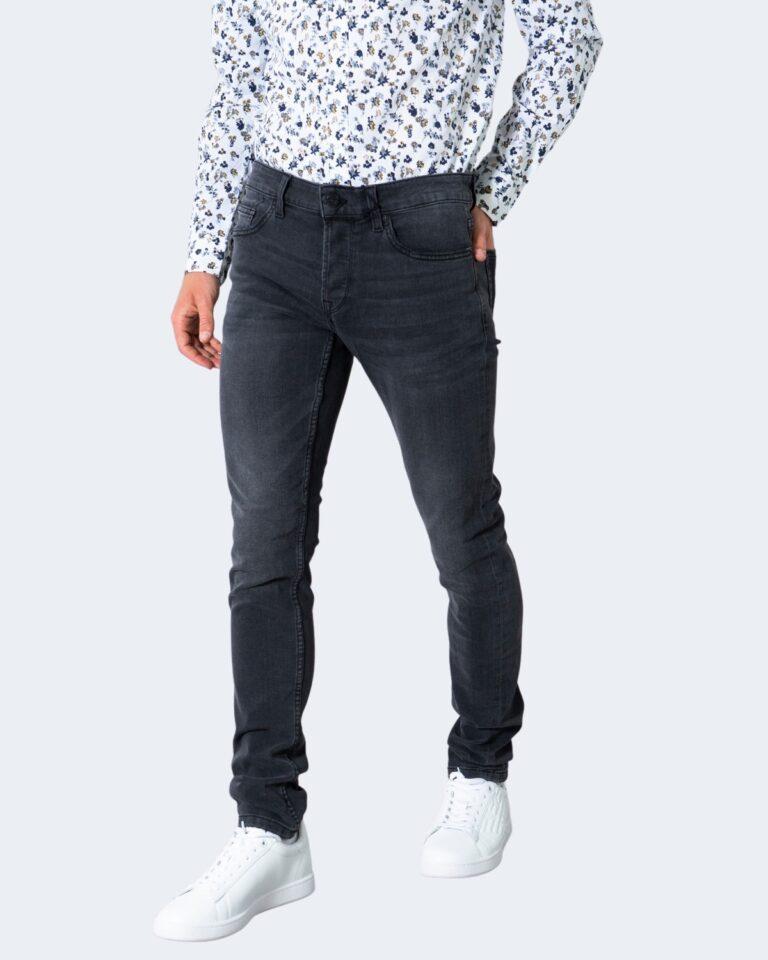 Jeans slim Only & Sons ONSLOOM LIFE SLIM BLACK WASHED PK 9623 - 22019623 Nero - Foto 1