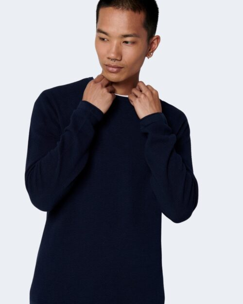 Maglia Only & Sons Panter Blu - Foto 4