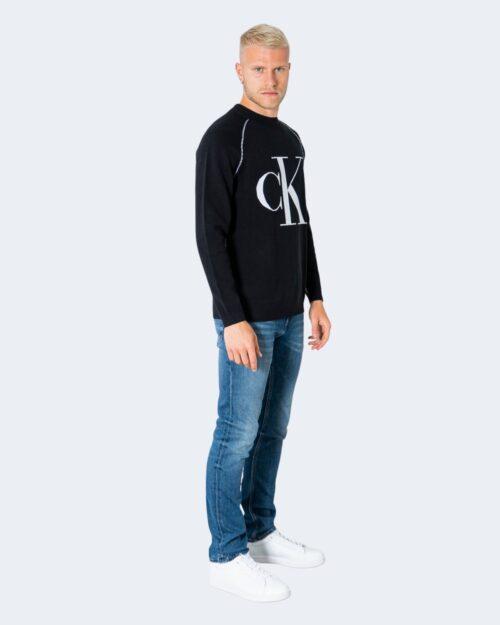 Maglione Calvin Klein OUTLINE LOGO Nero – 72099