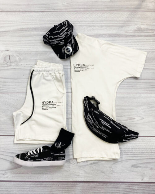 OUTFIT UOMO LOOSE FIT BIANCO #3348
