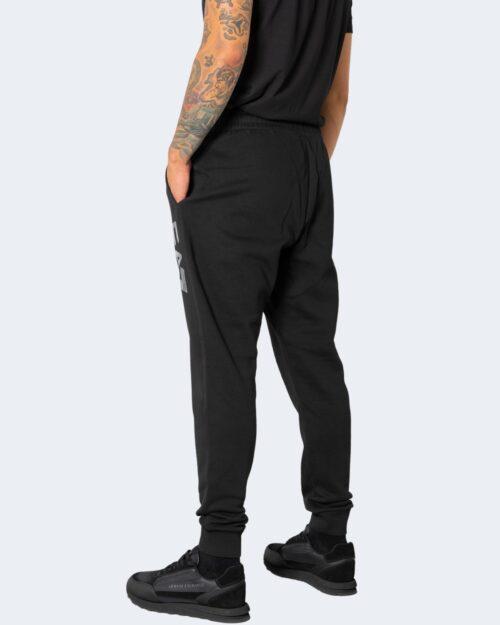 Pantaloni sportivi Ea7 STAMPA LOGO LATERALE Nero – 74101