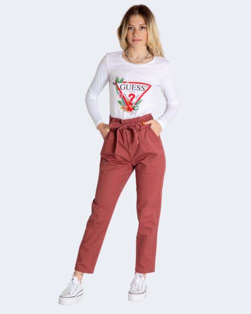 Pantaloni skinny Only POPTRASH LIFE PB COTTON PANT CC PNT Mattone – 74170