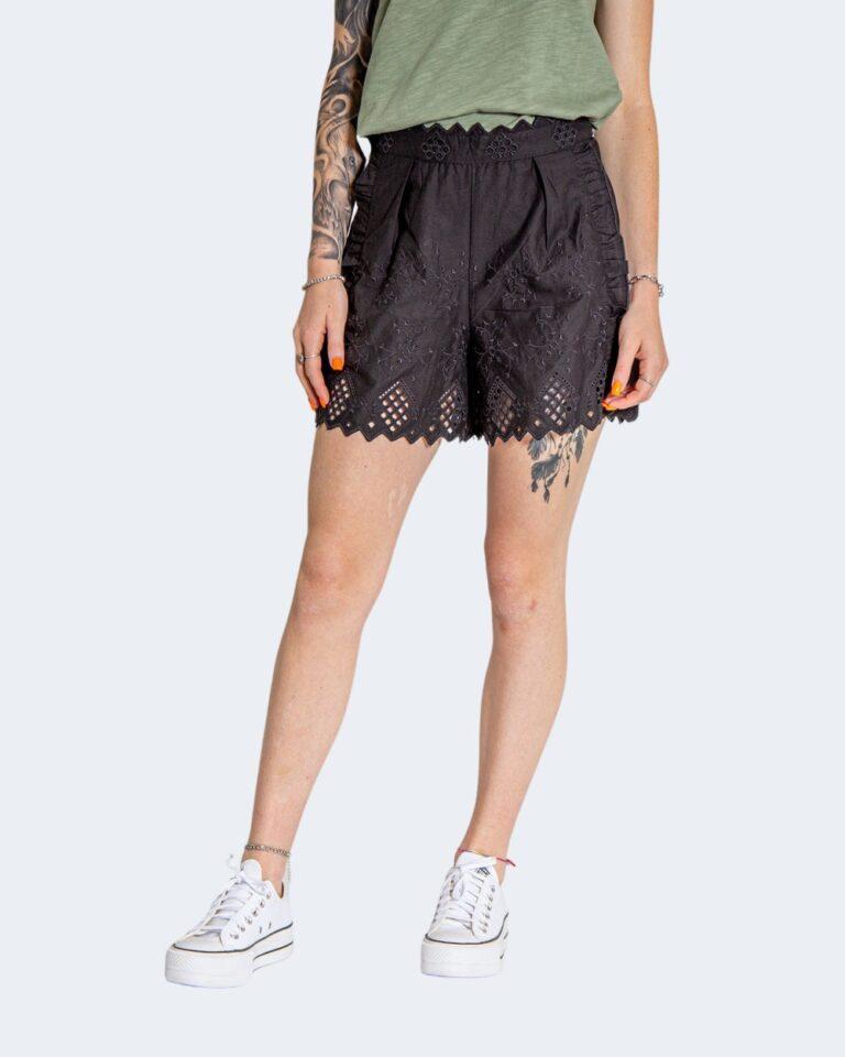 Shorts Only SANNIE BRODERIE Nero - Foto 1