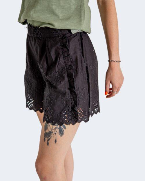 Shorts Only SANNIE BRODERIE Nero - Foto 4