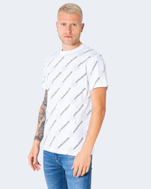T-shirt Calvin Klein Jeans LOGO Bianco - Foto 1