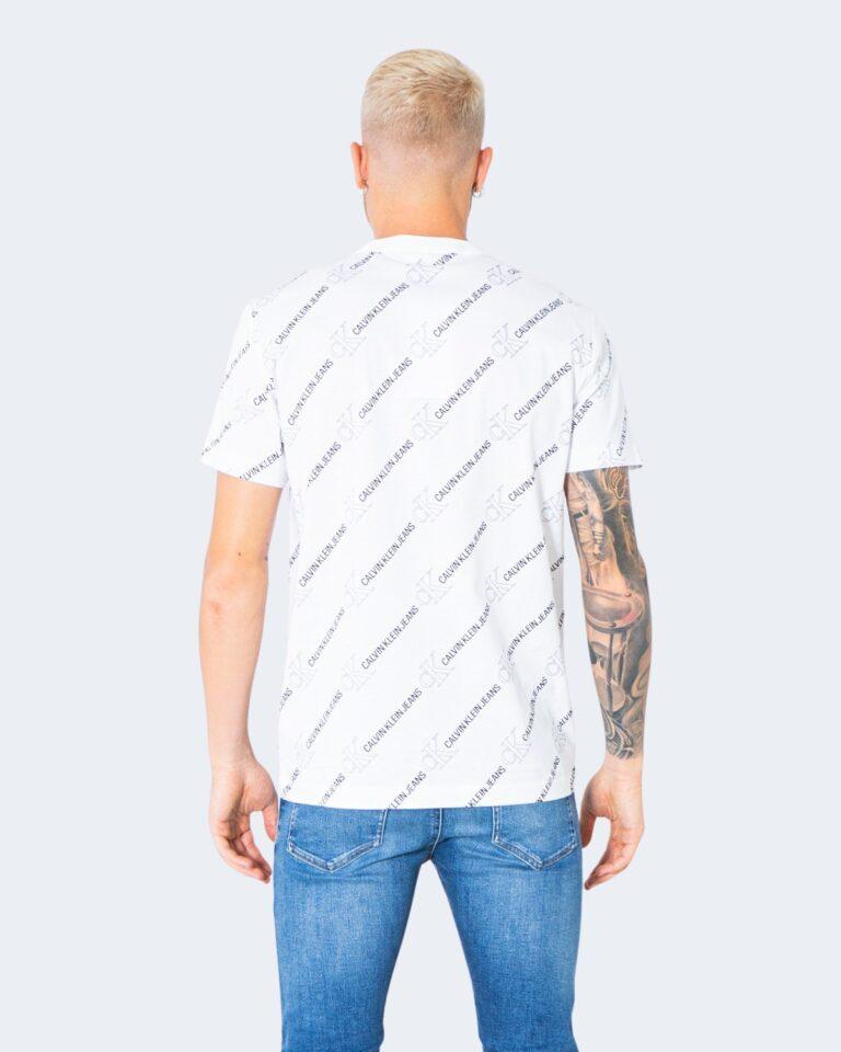 T-shirt Calvin Klein Jeans LOGO Bianco - Foto 3