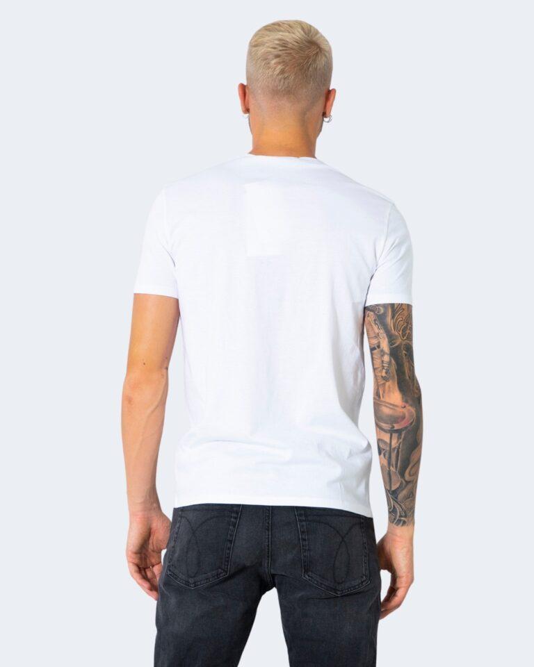 T-shirt Calvin Klein Jeans MIXED INSTIT Bianco - Foto 4