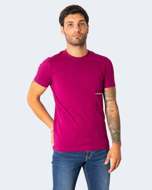 T-shirt Calvin Klein OFF PLACED Magenta – 72107